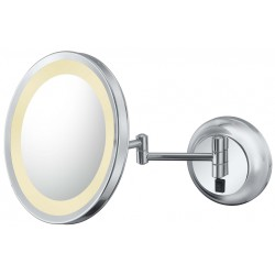 Kimball & Young Single Sided LED Lighted Round Wall Mirrors - Grounded Hardwired