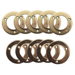 "Design House Stamped Closet Pole Socket 1-3/8"", 5-Pack, Chromate, Polished Brass Finish"