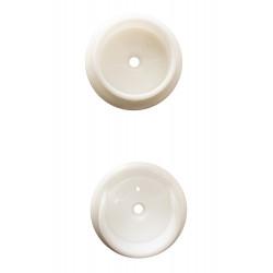Design House White Plastic Pole Sockets