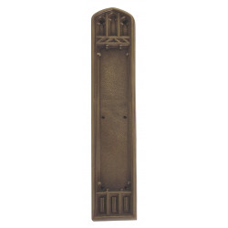 "Brass Accents A04-P5840 Oxford Push and Pull Plate - Exterior 3 3/8"" x 18"""