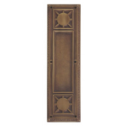 """Brass Accents A04-P7200 Nantucket Push and Pull Plate - Exterior 3 3/4"""" x 13-7/8"""""""
