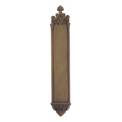 "Brass Accents A04-P5640 Gothic Push and Pull Plate - Exterior 3 3/8"" X 23 3/4"""