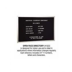 Salsbury Open Face Directory - Aluminum
