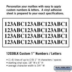 Salsbury Custom Numbers / Letters - Horizontal