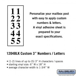 "Salsbury Custom Numbers / Letters - 3"", Vertical"