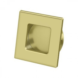"""Deltana FPS234 Flush Pull, Square, HD, 2-3/4""""X 2-3/4"""", Solid Brass"""