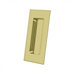 "Deltana Flush Pull, Rectangular, HD, 4"" x 1-7/8"" x 7/16"", Solid Brass"