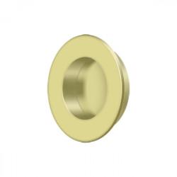 "Deltana FP178 Flush Pull, Round, HD, 1-7/8"", Solid Brass"