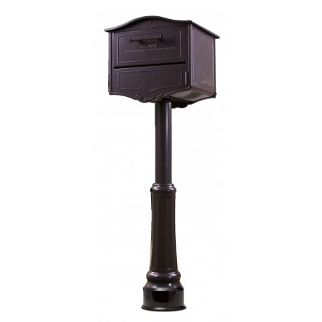 Architectural Mailboxes 6700 Geneva Locking Post Mount Mailbox