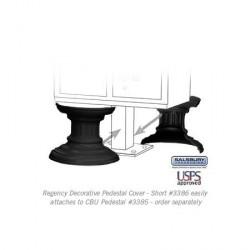 Salsbury Regency Decorative Pedestal Cover - Short (Option for CBU Pedestal 3385)