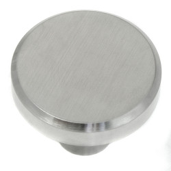 MNG Hardware 88900 Series Brickell Stainless Steel Flat Top Knob