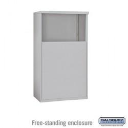Salsbury 4C Horizontal Mailbox Enclosure - Free-Standing