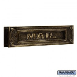 Salsbury Mail Slot - Deluxe - Solid Brass