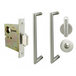 INOX PD5340 Privacy Pocket Lock with ADA Pulls, ADA Thumbturn
