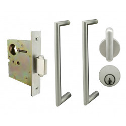 INOX PD5350 Entry Pocket Lock with ADA Pulls, ADA Thumbturn