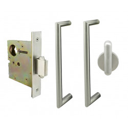 INOX PD5360 Patio Patio Pocket Lock with ADA Pulls, ADA Thumbturn