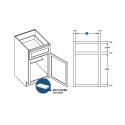 KCD Taylor Single Door Standard Base Cabinet