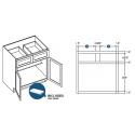 KCD Taylor Double Door Standard Base Cabinet