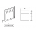 """KCD Taylor Corner Sink Front for 42"""" Space"""
