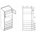 KCD Taylor Oven Cabinet with Drawer Box Upgrade
