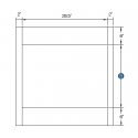 KCD Taylor Oven Cabinet Overlay Panel