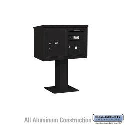 "Salsbury 4C Pedestal Mailbox (Includes 26"" High Pedestal and Master Commercial Locks) - Unit (48-1/8"") - Double Column - 1 MB3 D"