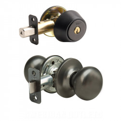 Yale NT New Traditions Horizon Knob Combo Set w/Entry Knob and Single/Double Cylinder Deadbolt