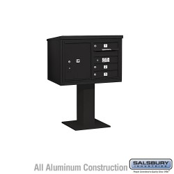 "Salsbury 4C Pedestal Mailbox (Includes 26"" High Pedestal and Master Commercial Locks) - Unit (48-1/8"") - Double Column - 3 MB1 D"