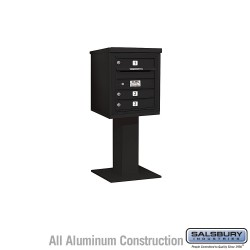 "Salsbury 4C Pedestal Mailbox (Includes 26"" High Pedestal and Master Commercial Lock) - Unit (48-1/8"") - Single Column - 3 MB1 Do"