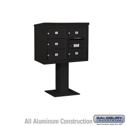 "Salsbury 4C Pedestal Mailbox (Includes 26"" High Pedestal and Master Commercial Locks) - Unit (51-5/8"") - Double Column - 5 MB2 D"