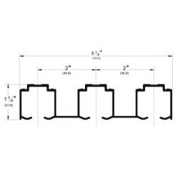 Pemko 2803 Aluminum Triple Track for Sliding and Folding Doors