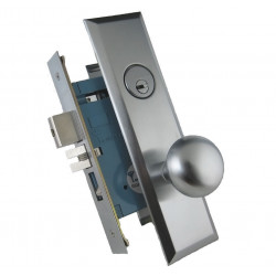 "Mul-T-Lock ML14 Mortise Knob Lock, Entrance 2 1/2"" backset, 1 1/16"" Face Plate"