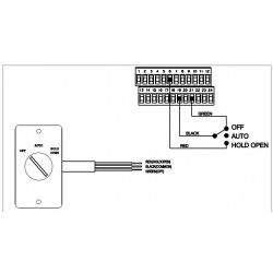 LCN 8310 Series Accessory, Switch 3 Position (On/Off/Hold-Open)
