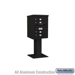 "Salsbury 4C Pedestal Mailbox (Includes 26"" High Pedestal and Master Commercial Lock) - Unit (51-5/8"") - Single Column - 4 MB1 D"