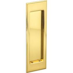 Omnia 7037 Traditional Rectangular Flush Pull – Solid Brass
