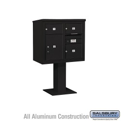 "Salsbury 4C Pedestal Mailbox (Includes 26"" High Pedestal and Master Commercial Locks) - Unit (55-1/8"") - Double Column - 2 MB2 D"