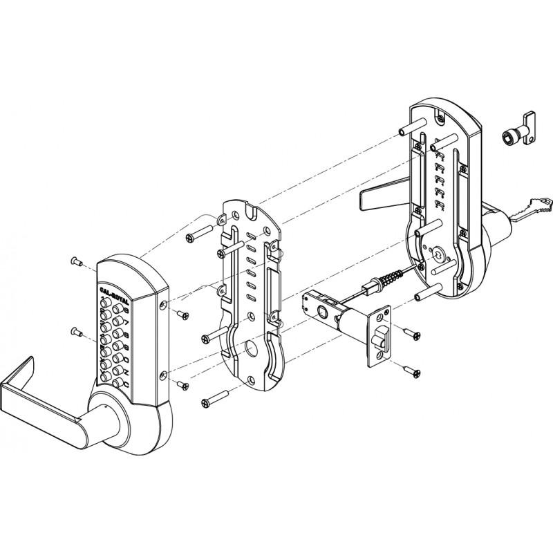 Cal Royal Crcode200 Series Mechanical Push Button Lock W