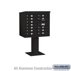 "Salsbury 4C Pedestal Mailbox (Includes 26"" High Pedestal and Master Commercial Locks) - Unit (55-1/8"") - Double Column - 12 MB1"