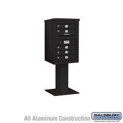 "Salsbury 4C Pedestal Mailbox (Includes 26"" High Pedestal and Master Commercial Locks) - Unit (55-1/8"") - Single Column - 5 MB1"