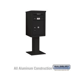 "Salsbury 4C Pedestal Mailbox (Includes 26"" High Pedestal and Master Commercial Locks) - Unit (55-1/8"") - Single Column - Stand-A"