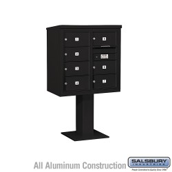 "Salsbury 4C Pedestal Mailbox (Includes 26"" High Pedestal and Master Commercial Locks) - Unit (58-5/8"") - Double Column - 7 MB2 D"