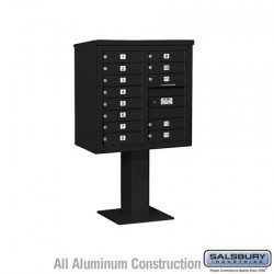 "Salsbury 4C Pedestal Mailbox (Includes 26"" High Pedestal and Master Commercial Locks) - Unit (58-5/8"") - Double Column - 13 MB1"