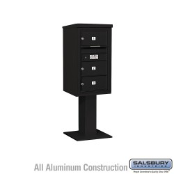 "Salsbury 4C Pedestal Mailbox (Includes 26"" High Pedestal and Master Commercial Locks) - Unit (58-5/8"") - Single Column - 3 MB2"