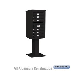 "Salsbury 4C Pedestal Mailbox (Includes 26"" High Pedestal and Master Commercial Locks) - Unit (58-5/8"") - Single Column - 6 MB1 D"
