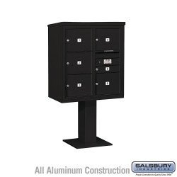 "Salsbury 4C Pedestal Mailbox (Includes 26"" High Pedestal and Master Commercial Locks) - Unit (62-1/8"") - Double Column - 1 MB1 D"
