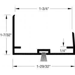 """Reese DB590 Door Bottoms, Door Shoe / Extender, 1-3/4"""" x 1/4"""""""