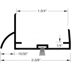 """Reese DB597 Door Bottoms, Door Shoe / Extender, 1-3/4"""" x 1/4"""""""