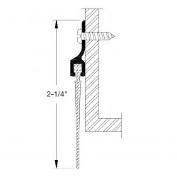 """Reese 805 Door Bottoms, Door Sweep, 1/4"""" x 2-1/4"""""""