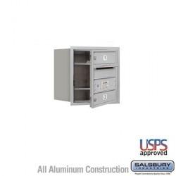 "Salsbury 4C Horizontal Mailbox - 4 Door High Unit (16-1/2"") - Single Column - 2 MB1 Doors"