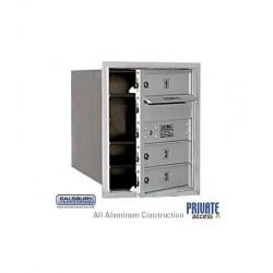 "Salsbury 4C Horizontal Mailbox Unit (20"") - Single Column - 3 MB1 Doors"